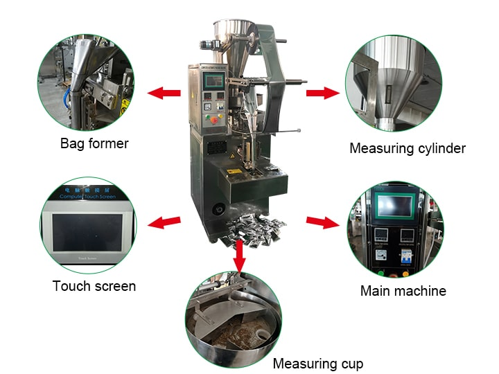 Structure of coffee packing machine