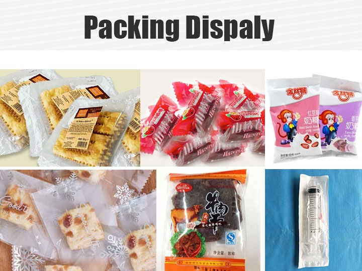 candy packing and syringe packaging