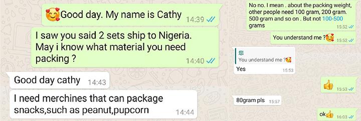 Peanut Packing Machine in Nigeria