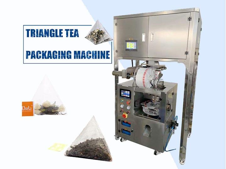 Pyramid tea packing machine