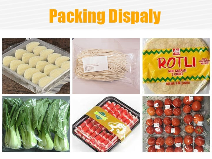 Fruits and frozen food packaging