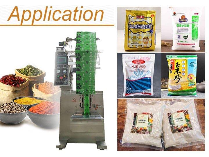 application of powder packing machine