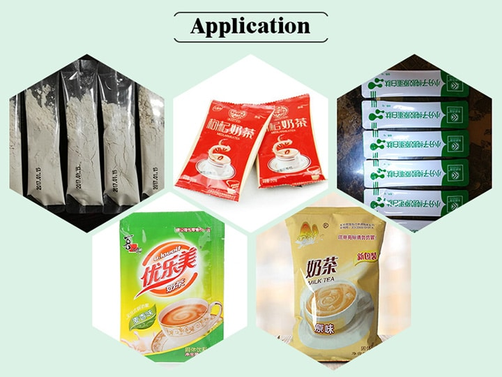 application of the powder packing machine