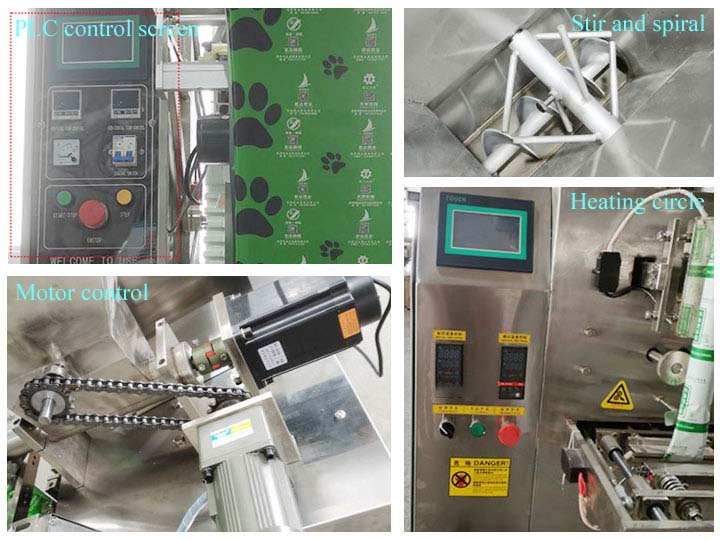 individual part of the powder packaging machines