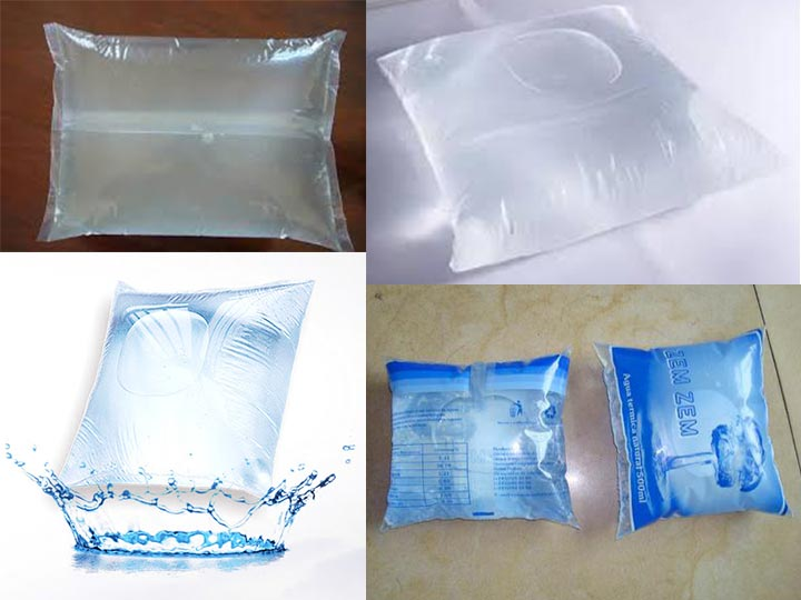 mineral water sachet
