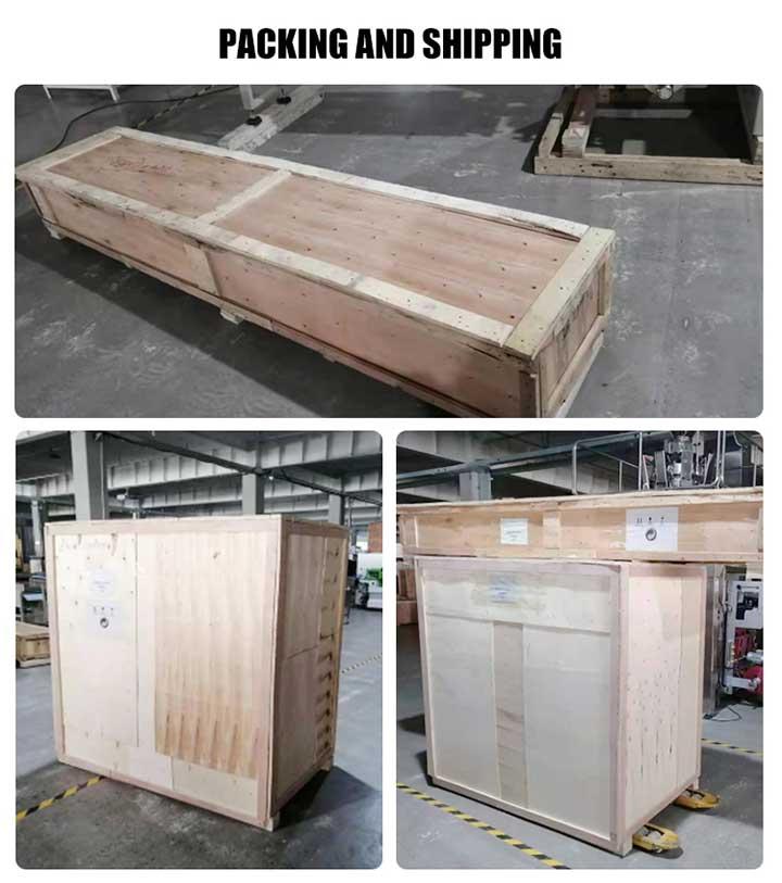 packinging machine shipment