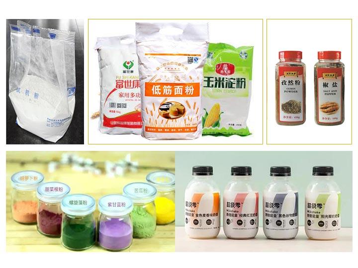 powder packing sample