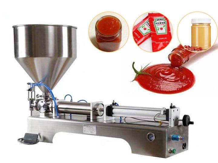 semi-automatic paste filling machine