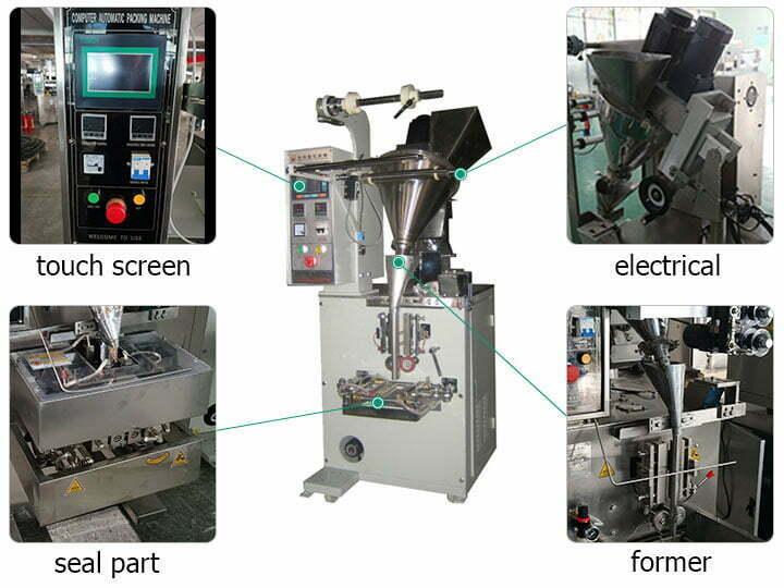 structure of milk powder packing machine