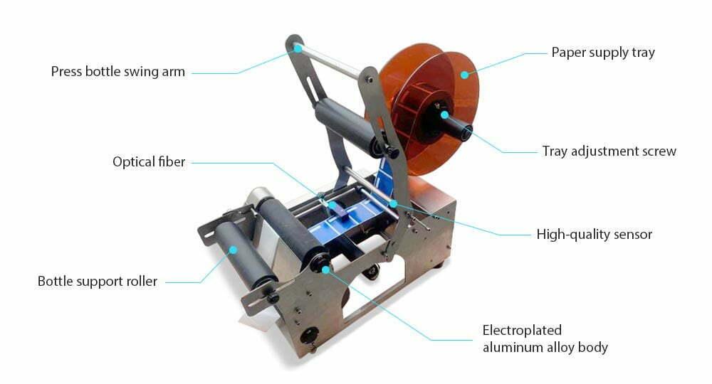 structure of semi-automatic labeling machine