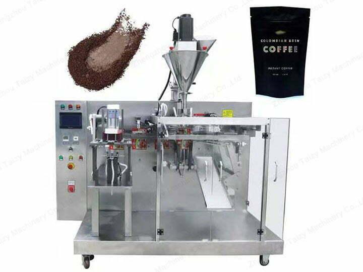 Horizontal bag feeding machine