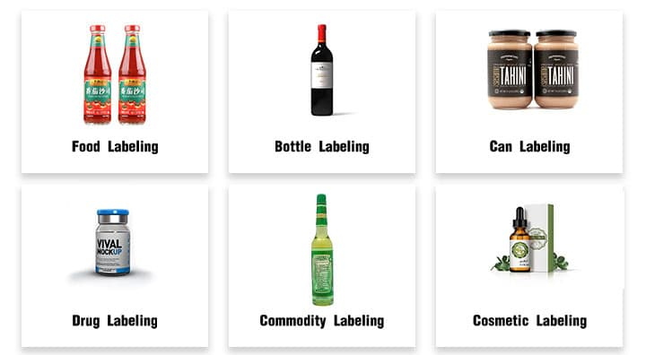 labeling machines for all kinds of bottles