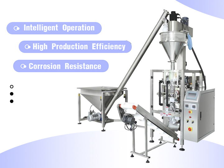 Automatic powder packaging machine for 10g-3000g